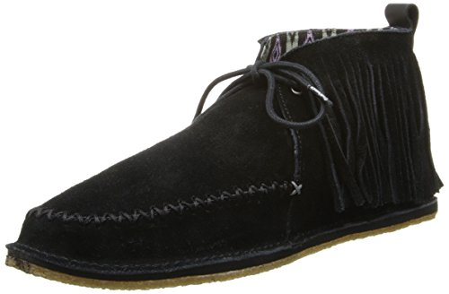 crocs Women's OM483 Ruffout Slip-On Loafer,Black,11 M US