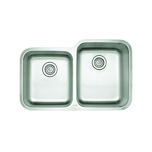 Blanco 441261 Stellar 1-3/4 Bowl Reverse Kitchen Sink, Stainless Steel (Reverse Sink Bowl)