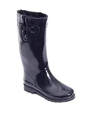 Amazon.com | Women Rubber Rain Boots / Lined Warm Snow