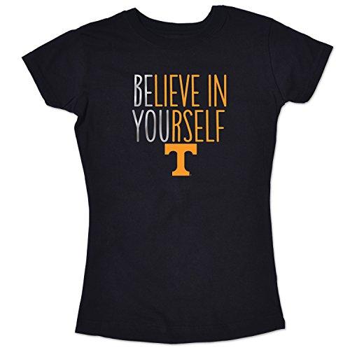 College Kids NCAA Tennessee Volunteers Girls Short Sleeve Tee, Size 10-12/Medium, Black