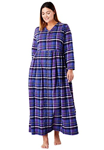 Womens Cotton Flannel Lounger (Only Necessities Women's Plus Size Flannel Plaid Lounger)