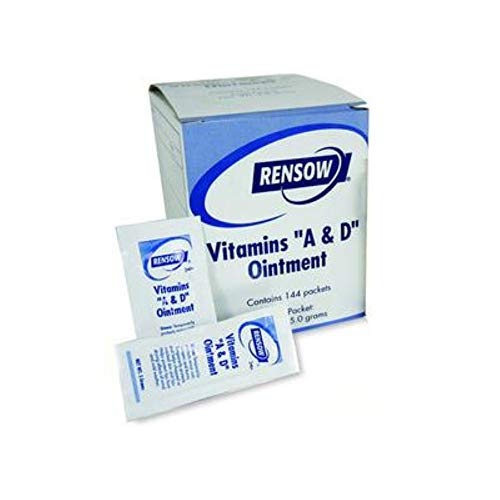 """Rensow Manufactured; Emerald Vitamins """"A & D"""" Ointment , 5 grams, 864 Foil packs (6 boxes of 144 packs), similar to petroleum jelly , Emerald ADFP"""