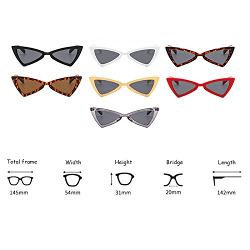 lunettes Femmes Lunettes Hommes soleil Mode de Gris Charnières Inlefen Métal Eye Cat Triangle qypwd1pgP