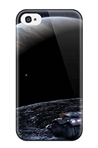 Iphone 4/4s Planet Fall Print High Quality Tpu Gel Frame Case Cover