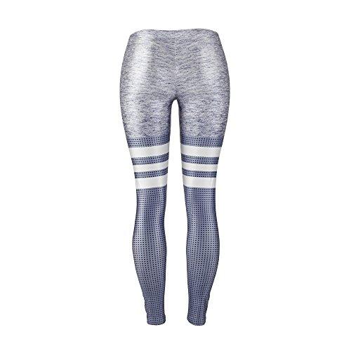 m A Allenamento Slim Leggins Digitale Righe Pantaloni Leggings Grigio Dioklen Sexy Arrivo nbsp;sportive Stampa Donne Legging Fitness Nuovo 2018 U0xp1U