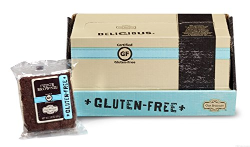 (Our Specialty Certified Gluten-Free (GF) Chocolate Fudge Brownies, Pack of 12 Individually Wrapped Brownies, 2.12 Ounce Each)