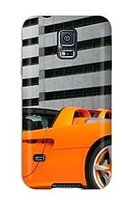 Tough Galaxy EygQlCB1206OGZbO Case Cover/ Case For Galaxy S5(orange Car In An Underground Parking)