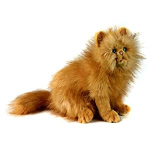 plush soft toy cat by hansa red persian type 30cm. Black Bedroom Furniture Sets. Home Design Ideas
