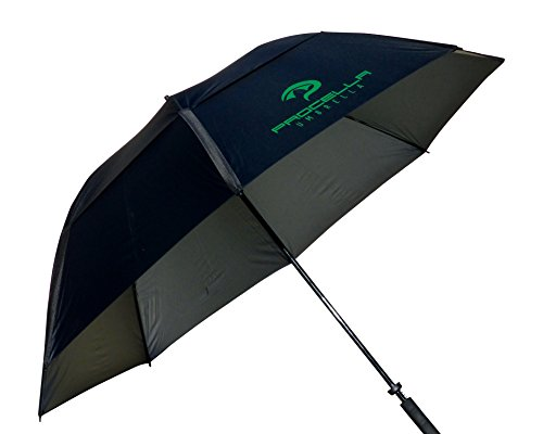 Procella Golf Umbrella Windproof 68 Inch Extra Large Oversized Rain Stick Umbrellas for Sports, Men & Women, Sun & UV Protection, Waterproof, Big Heavy Duty Vented (Black, 68 Inch Double Canopy)