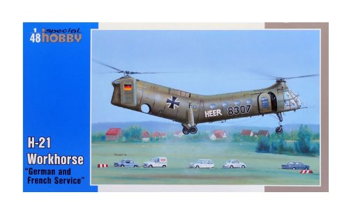 Special Hobby H21 Workhorse Helicopter with German and French Markings (1/48 Scale)