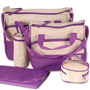 Set 5 kits Bolso/Bolsa/Bolsillo Maternal Bebé para carro carrito biberón colchoneta comida pañal de color púrpura: Amazon.es: Bebé