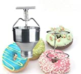 Product review for PY145 Manual Donut Depositor Dropper Plunger Dough Batter Dispenser Hopper with stand