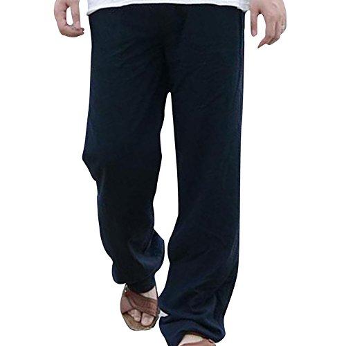 Linen Blend Casual Pants - 2