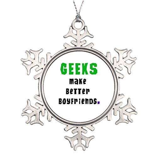 ances Lincoln Personalised Ornament Tree Decorated Geek Girl Halloween Snowflake Ornaments Tree Decor