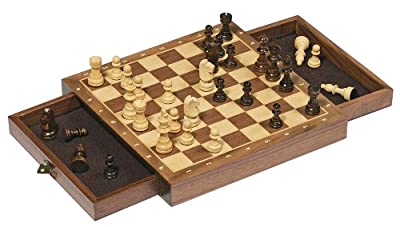 Magnetic Chess Set with Drawers