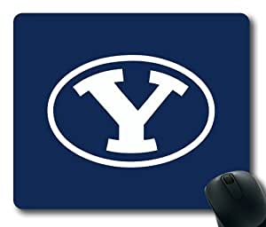BYU Cougars on Blue Rectangle Mouse Pad by eeMuse