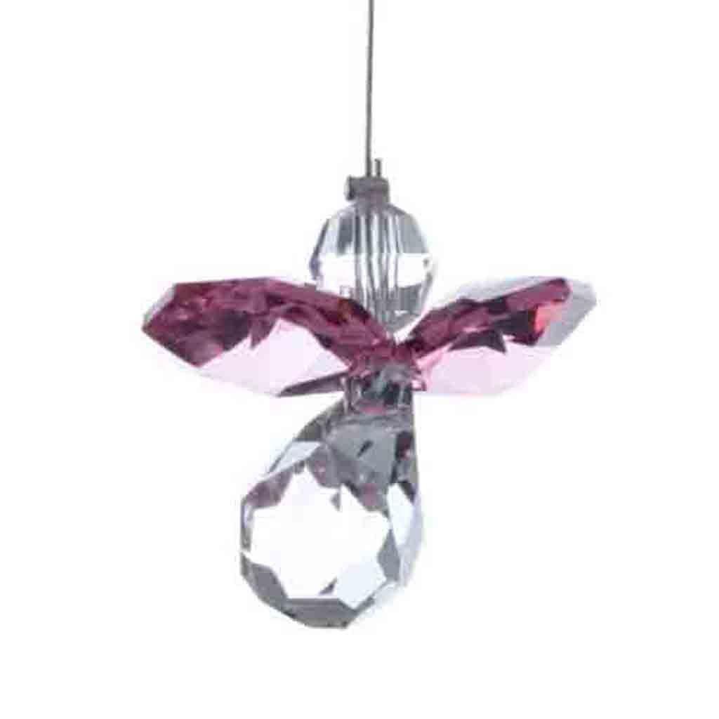 Hanging Crystals Crystal Guardian Angel Small Amethyst Purple Suncatcher