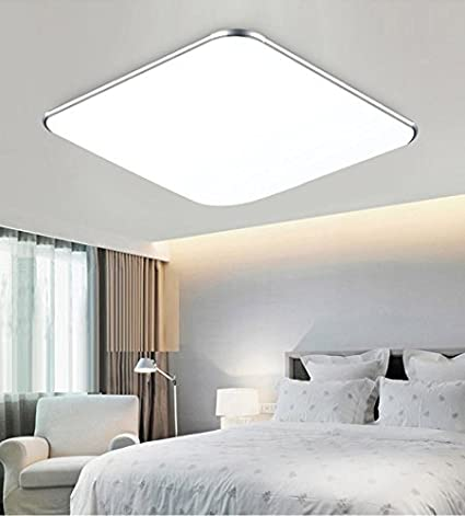 SAILUN 12W Ultra-Thin Modern LED Ceiling Light 6000K-6500K for Living Room Bathroom Bedroom and Dining Room LED Ceiling Lights 650-750LM Super Bright with Sensor Motion Silver Cool White
