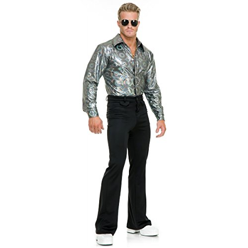 Silver Hologram Shirt Adult Costume - Large
