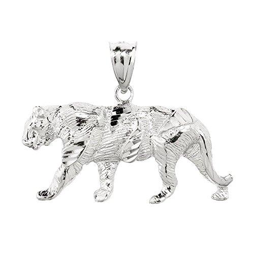 Petits Merveilles D'amour - 925 Diamants Pendentif argent Tiger