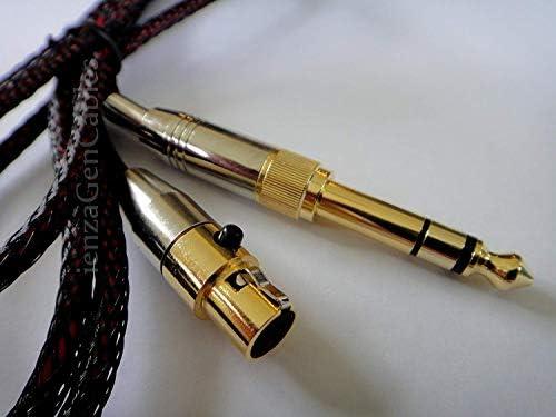 1.2m Pioneer HDJ-2000 Headphones Headset by ienza 4ft Replacement Audio Upgrade Cable For AKG K141 K171 K181 Q701 K702 K271S K271 MKII K271 MKII K240S K240 MK2 New