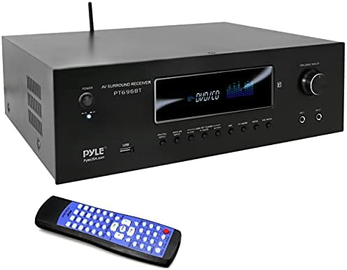 1000W Bluetooth Dwelling Theater Receiver – 5.2 Channel Encompass Sound Stereo Amplifier System with 4K Extremely HD, 3D Video & Blu-Ray Video Move-Via Helps, HDMI/MP3/USB/AM/FM Radio – Pyle
