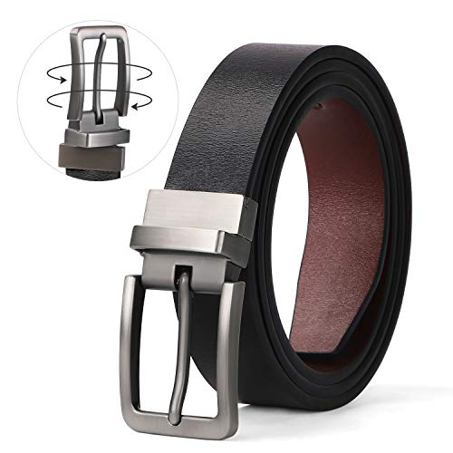 women reversible belt for jeans women leather belt plus size for pants belt buckle replacement ladies belt rotated buckle black brown reverse women belt genuine leather belt for women accessory alloy ()