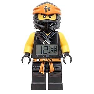 LEGO - Sveglia per bambini, altezza 9 cm, colore: Nero LEGO NINJAGO LEGO