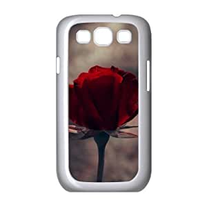 Samsung Galaxy S3 Case, Single Red Rose Funny Case For Samsung Galaxy S3 {White}