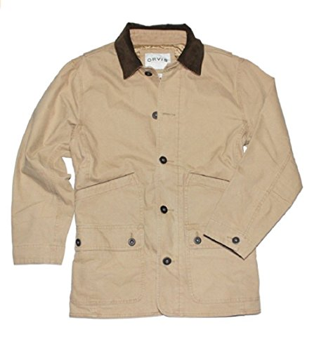 Orvis Men's Corduroy Collar Cotton Barn Jacket (X-Large, Saddle)