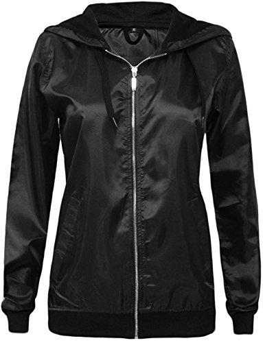 Noir Femme Shelikes Unique Taille Blouson c07qvT6g