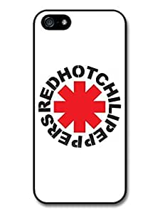 AMAF ? Accessories Red Hot Chili Peppers Rock Band RHCP Red Logo case for iPhone 5 5S