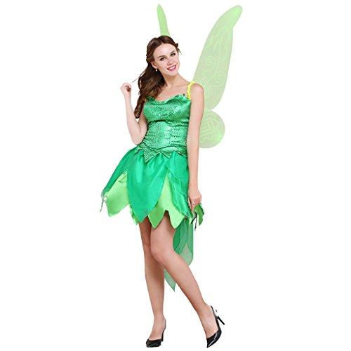 [CosplayDiy Women's Sexy Halloween Party Cosplay Costume Dress S] (Sequin Tinker Bell Adult Costumes)