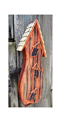 Batty Shack Bird House in Redwood Finish (Cypress Redwood Birdhouse)