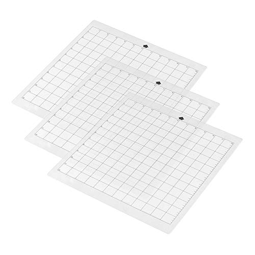 (3Pcs Replacement Cutting Mat Transparent Adhesive Mat With Measuring Grid 12 By 12-Inch For Silhouette Cameo Plotter Machine)