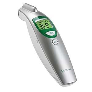 Medisana FTN Termómetro por infrarrojos de medición precisa, medición en 1s, memoría 30 resultados, señal acústico fiebre y alerta en pantalla, garantía 3 años