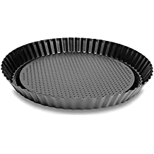 "Pie Tart 11"" Baking Pan Made of Non-Stick Black Aluminum for Home Kitchen and Catering"