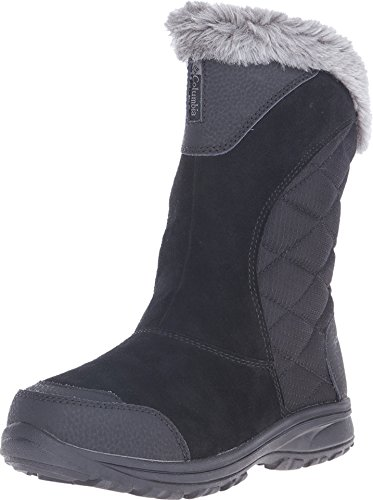Columbia Women's ICE Maiden II Slip Snow Boot, Black, Shale, 8.5 B US