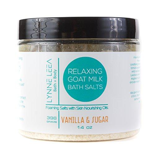 All Natural Goat Milk Bath Soaking Salts - Vanilla & Sugar - Skin Nourishing, Moisturizing Vanilla & Sugar Scent – for Relaxation, Detox, Dry Skin, Sore Muscles Lynne Leea (Sugar Soak Bath)