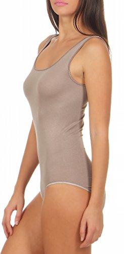 Damen Body ohne Arm, Micromodal von Schöller, Farbe Zeder / Wet Sand, in der Größe 40