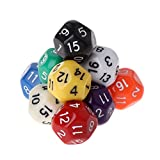 YOUSIKE 10pcs 16 Sided Dice D16 Polyhedral Dices