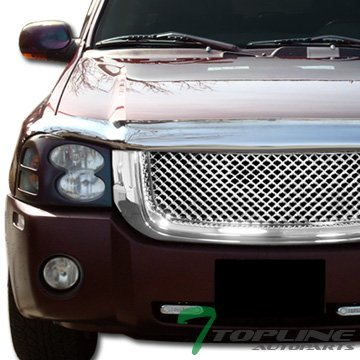 gelss Sport Chrome Mesh Front Hood Bumper Grill Grille ABS For 02-08 GMC Envoy (Chrome Sport Mesh Grille)