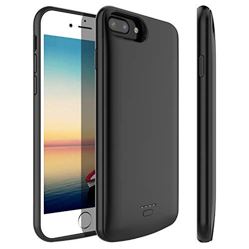Stoon iPhone 6s Plus/6 Plus/7 Plus/ 8 Plus Battery Case, 5500mAh Detachable Charger Case Extended Battery Protective Charging Case Cover for iPhone 8 Plus/7 Plus/6s Plus/6 Plus (5.5 Inch) (Black)