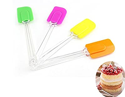 SuperStores 1 pc Silicone + Plastic Baking Spatulas Cake Cream Cookie Spatula Butter Mixing Baking Tool Batter Scraper Bruch Cake Tool