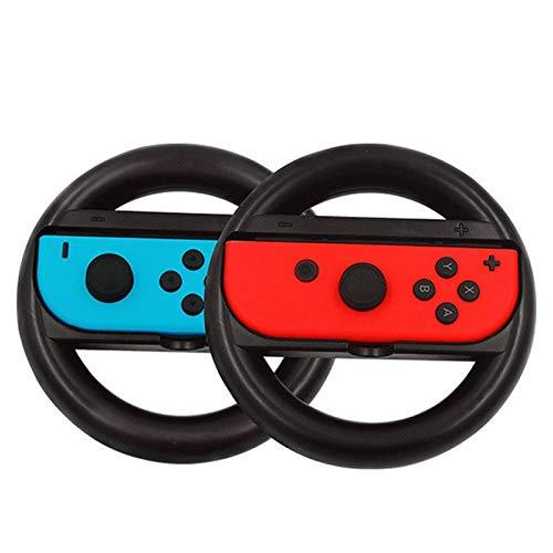 (Dolly Cart Wheels 2Pcs Joy-Con Wheel for Nintend Switch Racing Game Wheel Controller NS Joy-Con Grip Cart Holder)