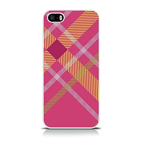 CallCandy Totally Tartan Fashion Coque pour Apple iPhone 5/5S/5C/SE–Rose/Orange/Vert/Blanc