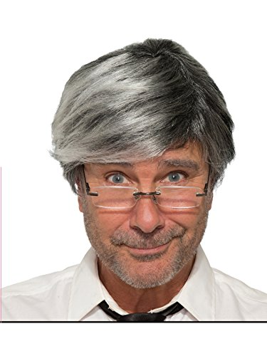 Forum Novelties Men's Wig-Old Man-Gray Party Supplies, Standard -