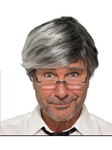 Forum Novelties Men's Wig-Old Man-Gray Party Supplies, Standard ()