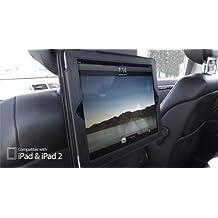 Apple iPad 2, iPad 3, & iPad 4 BLACK Dual In-Car Headrest Holder & Flip Case Cover