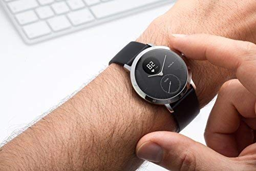 Withings / Nokia | Steel HR Hybrid Smartwatch - Activity Tracker with Connected GPS, Heart Rate Monitor, Sleep Monitor, Water Resistant Smart Watch with 25-day battery life (Renewed) by Withings (Image #8)